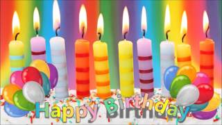 Happy Birthday song with Candles