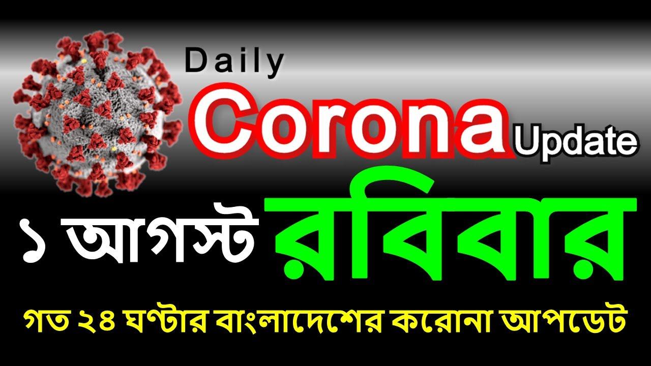 প্রতিদিনের করোনা আপডেট   1 August 2021   COVID19   DGHS   DHAKA   BANGLADESH