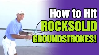 Tennis Drills - How To Hit Rock Solid Groundstrokes by TomAveryTennis.com