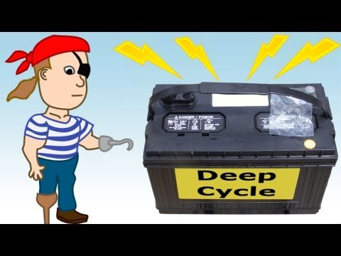 DIY Battery Bank for Backup Emergency Electricity - Pirate Lifestyle TV ™ Quickie 079