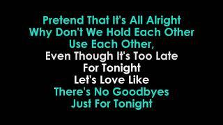 No Goodbyes karaoke Dua Lipa