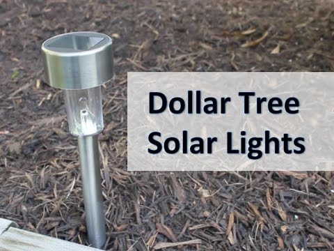 DOLLAR TREE SOLAR LIGHT REVIEW | Do they work?