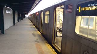 IRT Livonia Ave Line: R142 4 Train at Pennsylvania Ave-Livonia Ave (Weekend)
