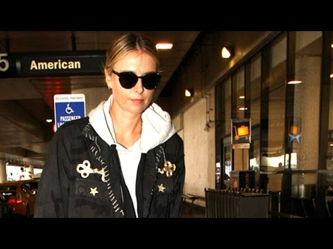 Tennis Star Maria Sharapova Strides Through LAX