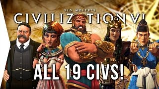 Civilization VI ► ALL 19 Civilizations - Overview & Strategies in Civ 6!