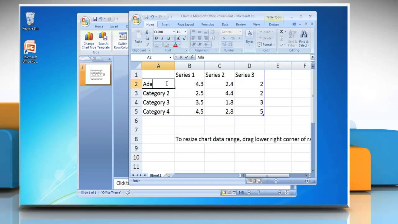 How to make a line graph in powerpoint 2007 youtube alramifo Choice Image