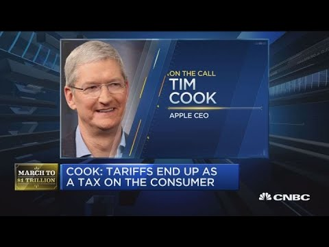 Apple CEO Tim Cook on tariffs, iPhone sales and services revenue Mp3