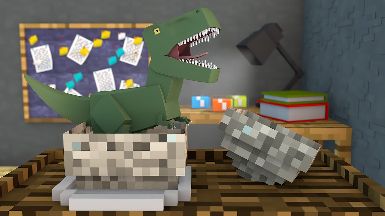 Minecraft O Dinossauro Nasceu Ark Craft Survival