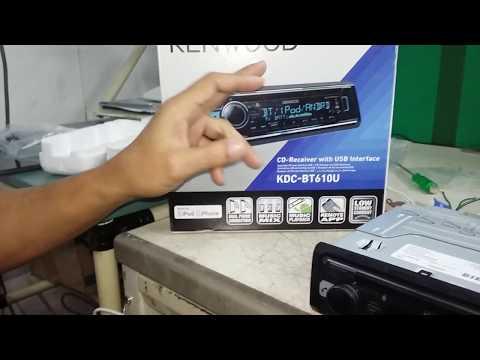 How to change language kenwood KDC-BTC610U