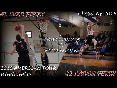 Luke Perry / Aaron Perry - American Basketball Tour Highlights (Class' of 2016)