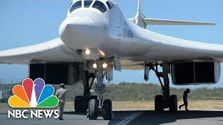 Nuclear-Capable Russian Bombers Arrive In Venezuela | NBC News