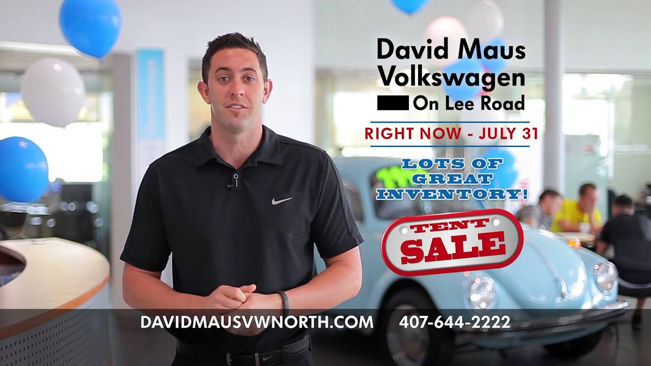 David Maus Volkswagen >> Tent Sale Going on Right Now at David Maus Volkswagen on Lee Road! - YouTube