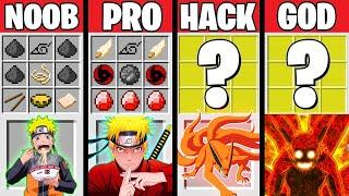 Minecraft Battle: SUPER NARUTO EVOLUTION! NOOB vs PRO vs HACKER vs GOD in Minecraft Animation