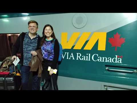 Traveling On Via 1 From Quebec City To Montreal