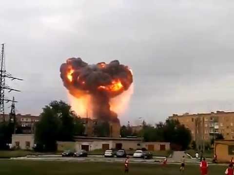 Взрыв боеприпасов в г. Чапаевск Самарской области