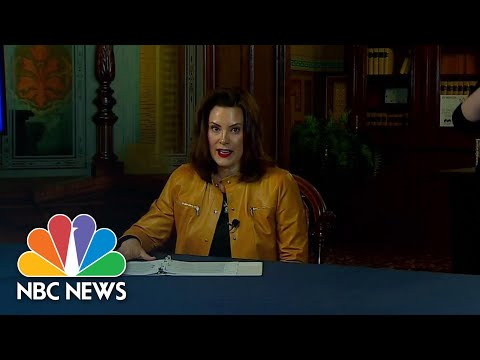 Michigan Governor Cites Report That Rate Of Case Increase Slowing In Key Counties | NBC News