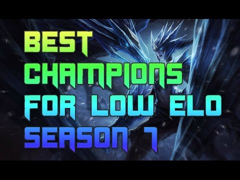 Best Champions For Bronze And Silver Solo Queue Season 7 Best Champs To Carry Low Elo S7 Youtube