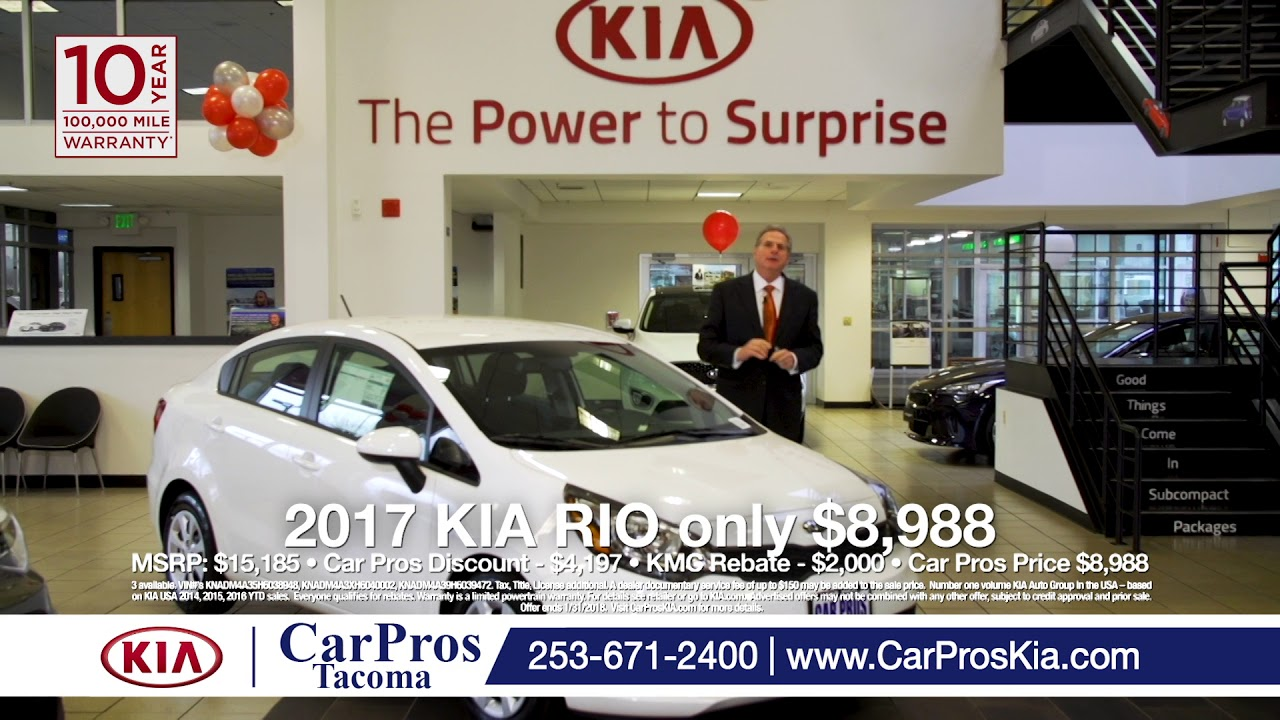 car pros kia tacoma 2017 kia rio 8 988 youtube. Black Bedroom Furniture Sets. Home Design Ideas