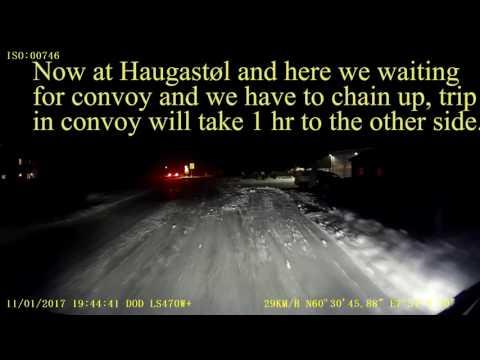 Convoy over Hardanger mountain