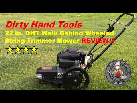 Dirty Hand Tools 22 In Walk Behind Wheeled String Trimmer Mower