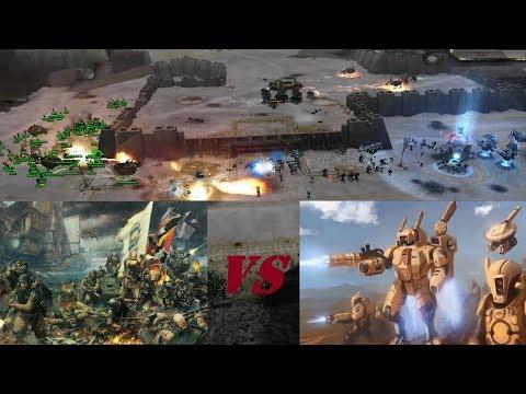 Dawn Of War Ultimate Apocalypse Mod: Imperial Guard VS Tau (BEGIN THE BOMBARDMENT)