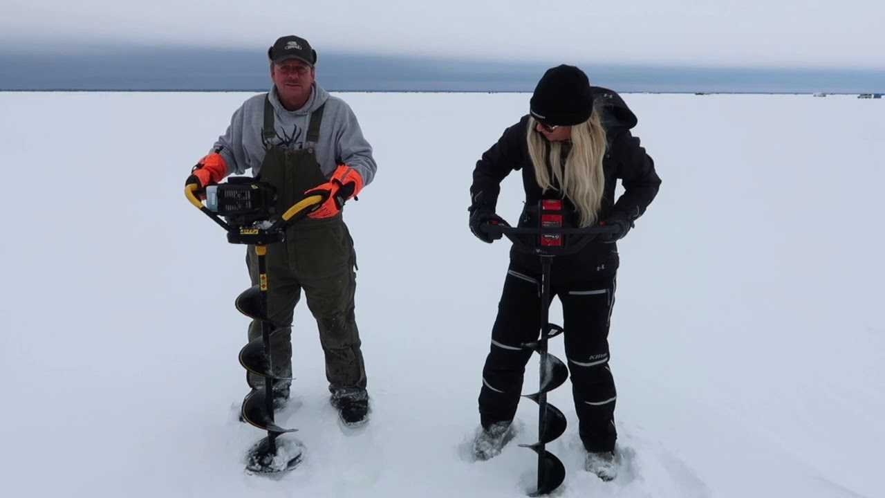 Electric Auger Review: Strikemaster Lithium 40V! | PLUS Auger Wars!! | ICE  FISHING REVIEWS