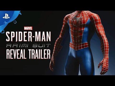 Marvel's SpiderMan – Sam Raimi Suit Reveal   PS4