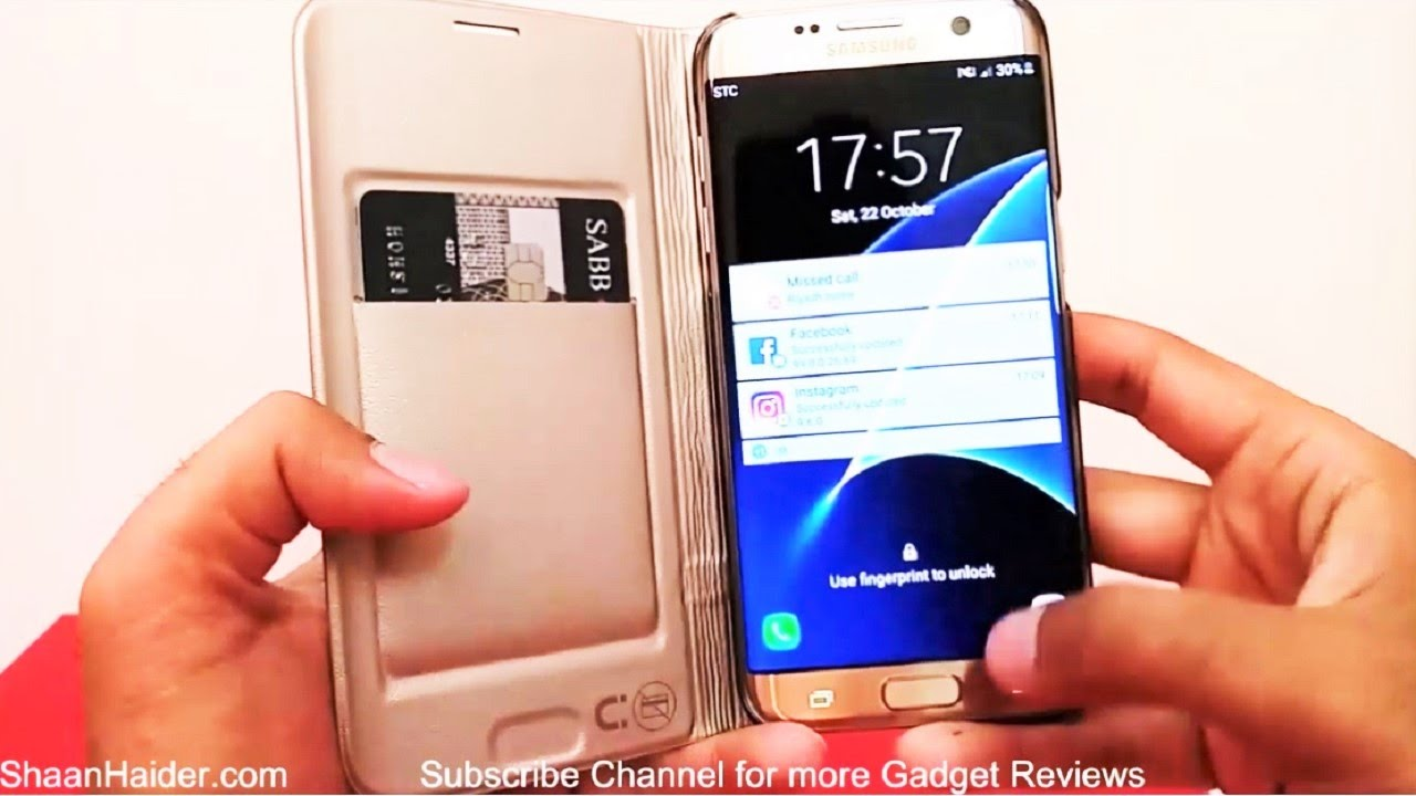 pretty nice f9b26 a7ea5 Samsung Galaxy S7 Edge LED View Cover - Detailed Hands-on Review