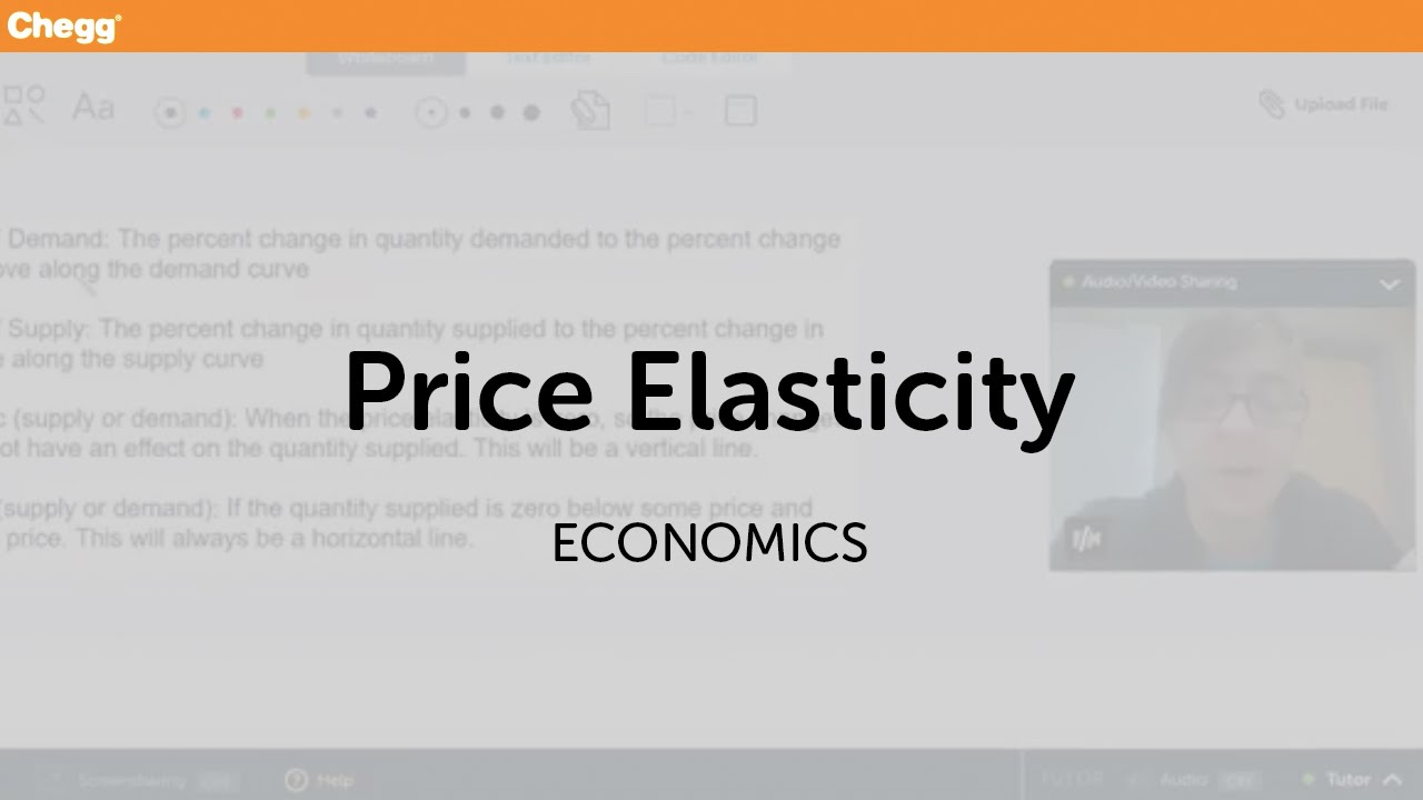 Definition Of Price Elasticity Chegg Com