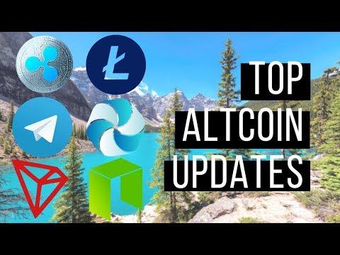 Top Altcoin Updates - Neo, Telegram Token, Litecoin, High Performance Blockchain and Tron