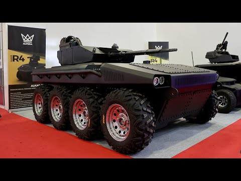 Domestic Electric Unmanned Ground Vehicle Alkar R8 Debuted at IDEF indir