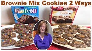 BROWNIE MIX COOKIES 2 WAYS  BAKE WITH ME