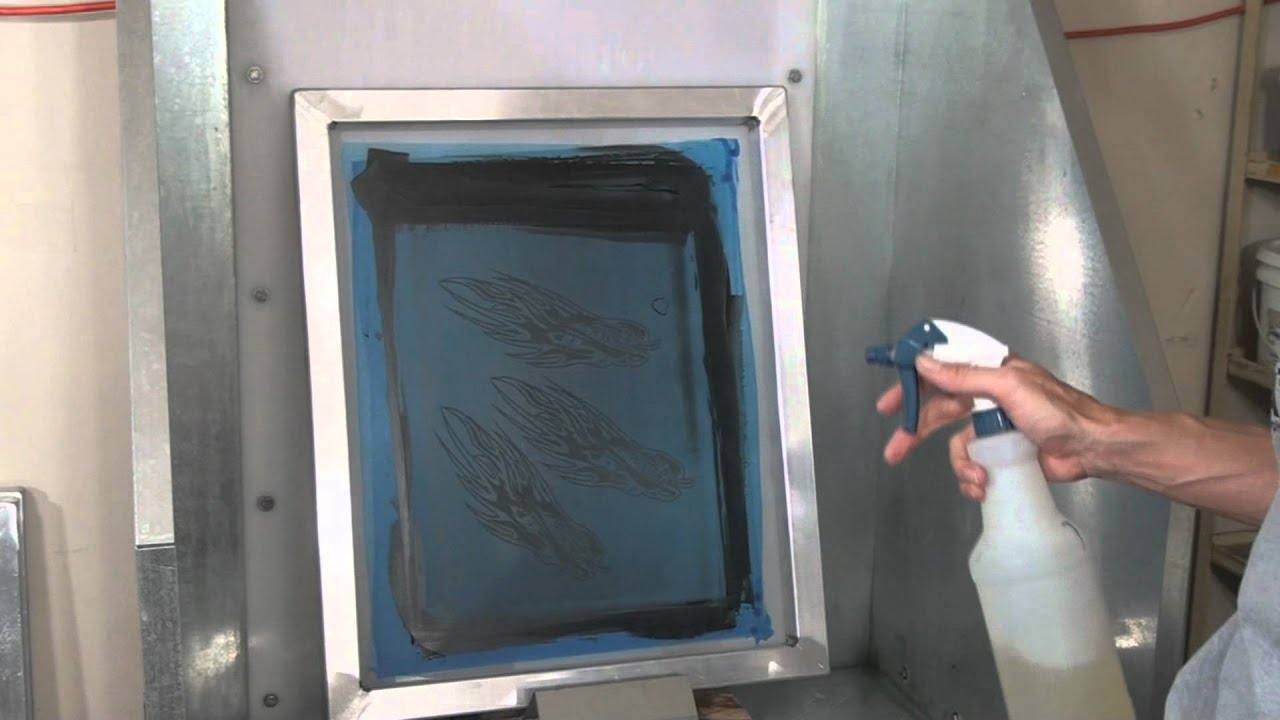 How To Screenprint Tips For Cleaning Ink Off Screens