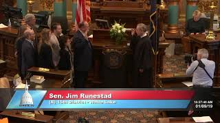 Sen. Runestad sworn in as Michigan senator