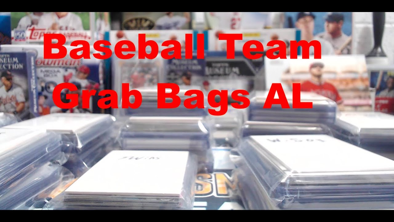 Baseball Card Team Grab Bags For Sale 10 Al Teams 15 20 Cards Per Bag With One Hit
