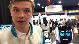 Видео с подробностями аварии робота Promobot и электромобиля Tesla