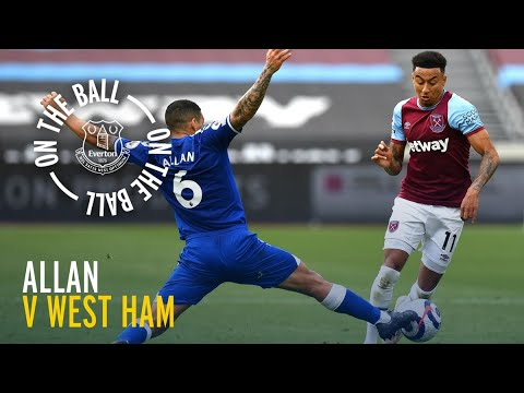 ON THE BALL: ALLAN PLAYER CAM VS WEST HAM