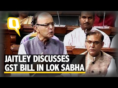 The Quint: Finance Minister Jaitley Discusses GST Bill in the Lower House