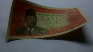 Download Uang kuno 1 rupiah sukarno bisa menggulung. MP3 song and Music Video