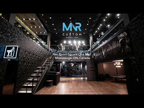 REC ROOM Square One Mall, Mississauga, Ontario, CANADA - By MNR Custom Metal!