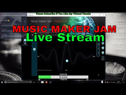 (Was LIVE) Music Maker Jam, Windows 10 Music Application, Deep House, Session 5