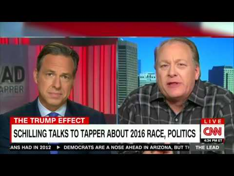 Curt Schilling puts Jake Tapper on the spot
