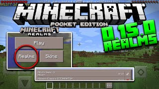 MCPE 0.15.0 REALMS GAMEPLAY - Beta Build 1 Update Release - Minecraft PE (Pocket Edition)