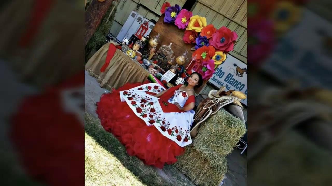 Quinceañera Charra Mexicana En Blanco Y Rojo Ideas De Vestidos Charros Y Temas Charros Themes
