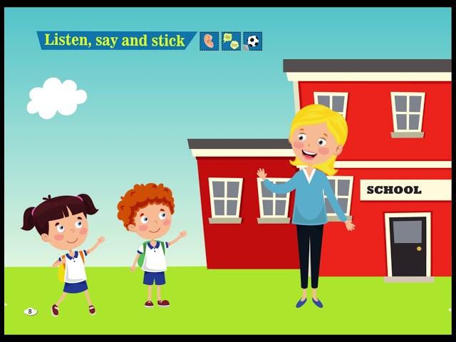 Listen, Say and Stick - Cim and Cimcime - Okul Öncesi İngilizce Eğitim