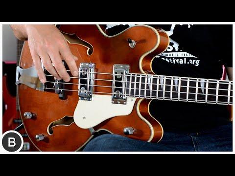 Affordable Semi-Hollow Bass // Harley Benton HB-60 WB