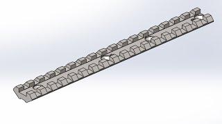 Solidworks.Проектирование планки Пикатинни