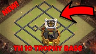 NEW 2016 Town Hall Ten Trophy Base! Best Ever TH 10 Defense Layout! (Clash of Clans)