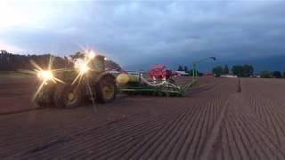 Planting Corn 2018 || Aerial Views || HvW Custom || John Deere 7215R & 1770NT (Short Version)