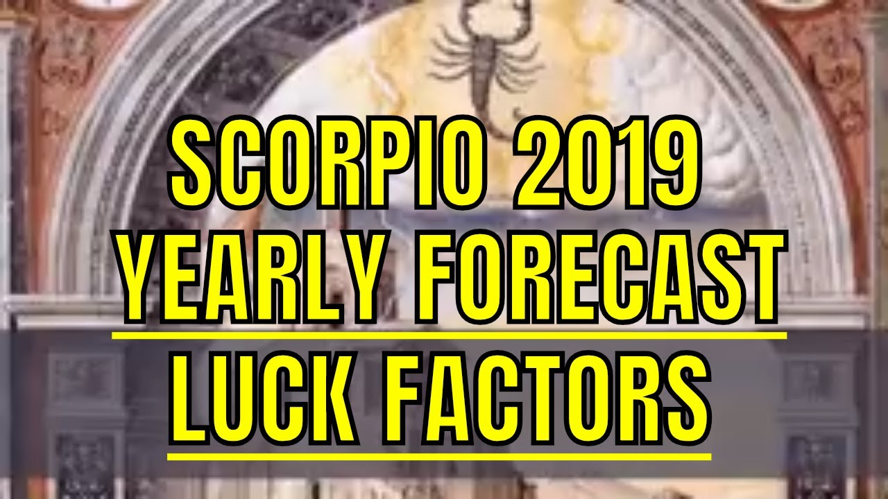 Scorpio 2019 horoscope vrishchika rashi lucky factors - Lucky color of the year 2019 ...